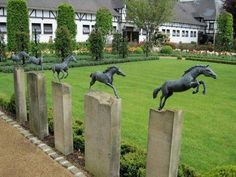 Just jump it! A lovely landscaping feature if you are a lover of horses. #landscaping #horses