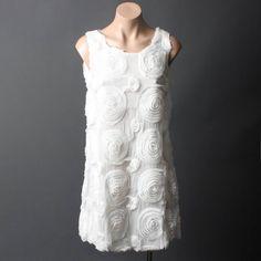 White rosette dress