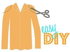 DIY cut-out shoulder shirt