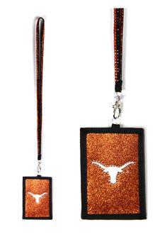 Texas Longhorns Beaded Lanyard Wallet