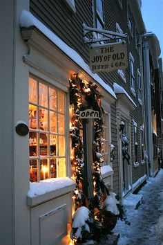 """""""Joy of Old"""" - a shop for vintage & antique goods ... at Christmas ... in Charleston, Massachusetts ~  must visit soon!"""