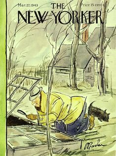 The New Yorker, New Yorker Covers, Magazine Art, Magazine Design, Magazine Covers, Vintage Illustration Art, Garden Illustration, Red White And Boom, New Yorker Cartoons