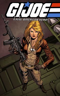 Cover Girl, G.I Joe. Drawn by Robert Atkins, colours by Simon Gough. Comic Book Covers, Comic Books Art, Comic Art, Cartoon Tv, Cartoon Shows, War Comics, Marvel Comics, Walt Disney, Heroes United