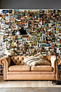 Wall décor made of travel photos - Amazing Home Decorating Style Trends and Ideas