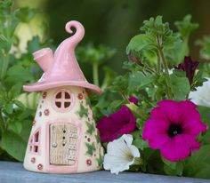 Elfenhäuschen aus Keramik