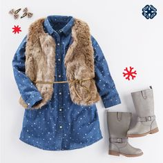 Faux fur for her? Yes, please! Shop holiday looks for your OshKosh girl today!