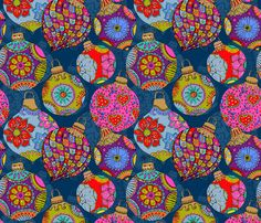 Bohemian Christmas  fabric by cassiopee on Spoonflower