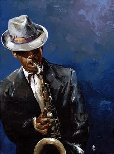 """""""The Blues II"""" -- by Victor Bauer"""