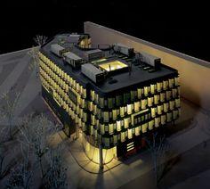 Budynek biurowy – makieta