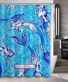 """New Design Favorite Mermaid lilly pulitzer Lilly Custom Shower Curtain 66"""" x 72""""…"""
