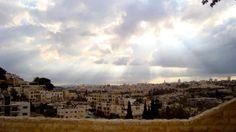 Jerusalem from the steps to the BYU Jerusalem Center.