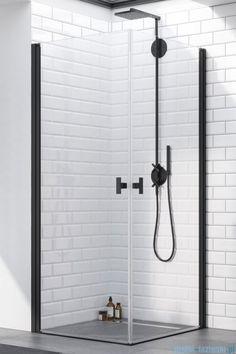 душевые кабины nes black kdd i - Radaway Small Shower Room, Small Showers, Bathroom Hooks, Master Bathroom, House Extensions, Argos, Sink, Furniture, Black