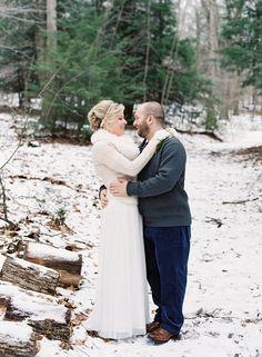 A Beautiful Winter Wedding Savage River Lodge