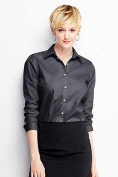 Women's Long Sleeve Modern Broadcloth Shirt from Lands' End