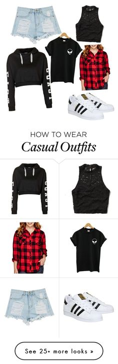 """""""Casual"""" by emilyjohnson27 on Polyvore featuring Abercrombie & Fitch, adidas, Topshop, Arizona, women's clothing, women, female, woman, misses and juniors"""