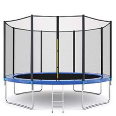 Freesa Outdoor Trampoline Children Trampoline Large Bungee Bed With Protective Net With Enclosure Net Jumping Mat Spring Cover Cushion Padding 10 FT Outdoor Activity Large Toys Jumpking Trampoline, Rebounder Trampoline, Trampoline Workout, Trampolines, Trampoline For Kids, Bounce Jump, Water Toys, Steel Structure