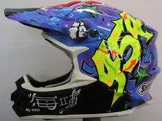 Shoei Motocross/Enduro Hand Painted Helmet ~ Hand Painted Helmets - Design your helmet today..!!