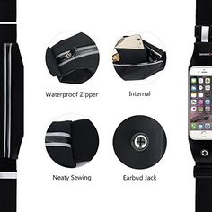 Sahara Sailor Running Belt Waist Pack, Waterproof Universal Sport Running Waist Belt Bag with Clear Touchscreenis designed for containing universal 4.7-inchmobile phones while you're executing outside sports.