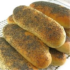 """Chicago """"Red Hot"""" poppy seed buns"""
