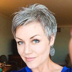 Very-Short-Gray-Hair Best Short Haircuts for Older Women frisuren frauen frisuren männer hair hair styles hair women Haircut For Older Women, Short Hairstyles For Women, Cool Hairstyles, Gorgeous Hairstyles, Hairstyles Haircuts, Hair Styles 2016, Short Hair Styles, Pixie Styles, Short Grey Haircuts