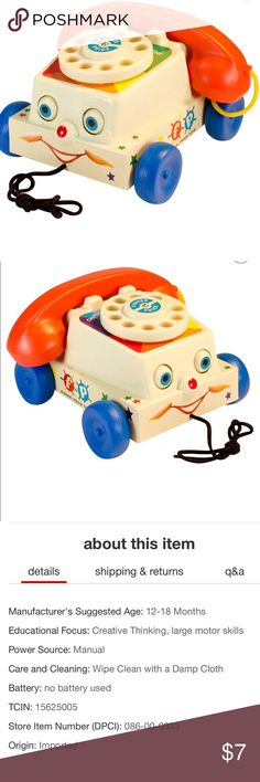 Fisher Price Chatter Phone Perfect for 1-3 years old. Great condition(looks like the red on his nose rubbed off). Sanitized & ready for play time! No batteries needed! Fisher Price Other