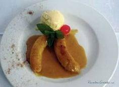 Receta de Plátanos en tentacion con canela Le Chef, Pancakes, Tacos, Pudding, Breakfast, Ethnic Recipes, Desserts, Food, Cuban Recipes