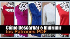 Descargar e Imprimir patrones de costura PDF de El Baúl de las Costureras Pattern Cutting, Diy Dress, Dress Making, Sewing Patterns, Quilts, Boutique, Stitch, Model, How To Make