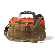 Filson Heritage Sportsman Bag - Orange/Dark Tan