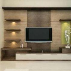 Tv Unit Interior Design, Tv Unit Furniture Design, Tv Wall Design, Modern Interior Design, Interior Designing, Lcd Unit Design, Furniture Sets, House Design, Home Interior