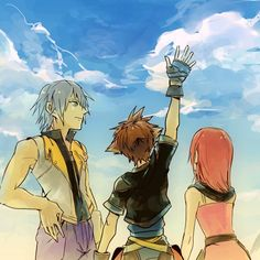 Kingdom Hearts 2. Riku, Sora, and Kairi.