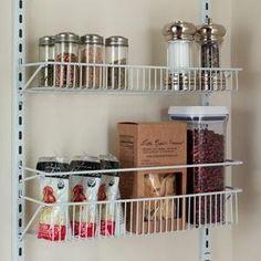 wall rack, door rack, adjustable rack, storage, organization, closetmaid, kitchen storage