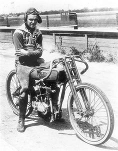"Albert ""Shrimp"" Burns began racing motorcycles in 1913 when he was 15 years old."