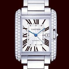 Buy Cartier Tank Anglaise Stainless Steel Watches, authentic at discount prices. Complete selection of Luxury Brands. All current Cartier styles available. Cartier Tank Anglaise, Cool Watches, Watches For Men, Wrist Watches, Men's Watches, Cartier Panthere, Tank Watch, Cartier Santos, Apple Watch Bands