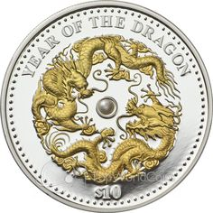 Fiji 2012 10 $ Year of the Dragon Lunar 2012 Proof Silver Coin :: Top World Coins