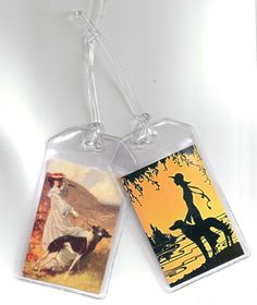 SueBero Set of 2 Greyhound Luggage Tags  by handmade4hounds, $7.00