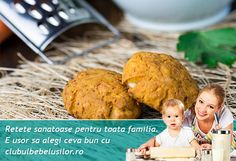Biscuiti cu morcov pentru copii de la 1 an - Clubul Bebelusilor Thing 1, 1 An, Baked Potato, Potatoes, Eggs, Baking, Breakfast, Health, Ethnic Recipes