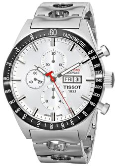 Tissot Men's T0446142103100 T-Sport PRS516 Automatic Silver Day Date Dial Watch...