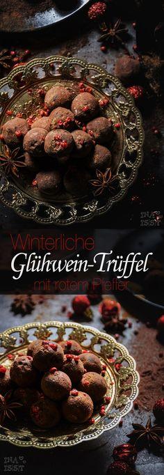 Winterliche Glühwein-Trüffel mit rotem Pfeffer /// Spices punch chocolate truffles