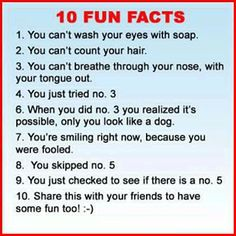 10 fun facts about YOUR body
