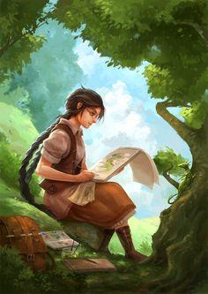 48 Ideas for travel girl illustration rpg Character Concept, Character Art, Concept Art, Portrait Girl, Plan Image, Art Watercolor, Painting Of Girl, Girl Paintings, Artists For Kids