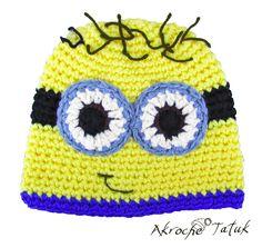 Tuque minion crochet hat