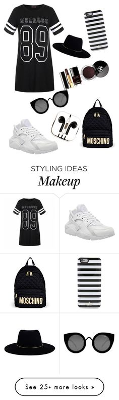 """Untitled #92"" by sassystokes on Polyvore featuring Ally Fashion, NIKE, Moschino, Quay, PhunkeeTree, Kate Spade and Zimmermann"
