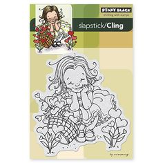 Mo Manning GARDEN OF LOVE by Penny Black Stamps. Slapstick/Cling 3.8 x 4.1