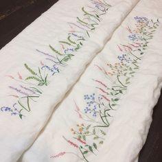 작은꽃과 파스텔계열을 좋아하신다는 주문자분의 커텐 완성