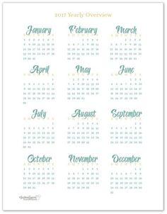 58 Stunning 2017 Printable Calendar Templates                                                                                                                                                     More