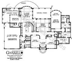 Brickstone Manor House Plan Floor Plan,Luxury House Plans,Master Down House Plans Luxury House Plans, Dream House Plans, House Floor Plans, Luxury Floor Plans, Dream Houses, Lake Houses, Luxury Houses, The Plan, How To Plan
