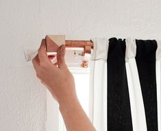 copper pipe curtain rods would be such an upgrade from what I have in our bedroom now