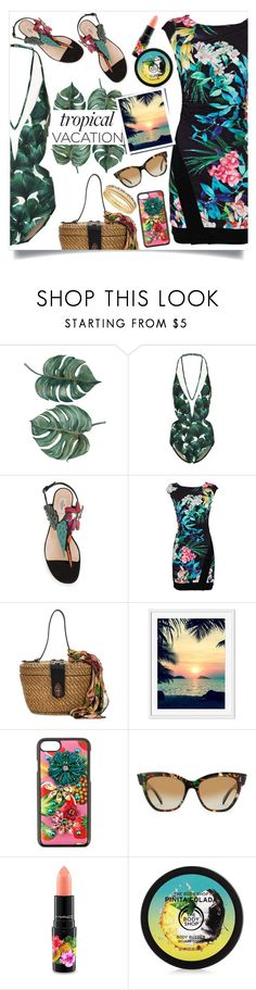 """Welcome to Paradise: Tropical Vacation"" by teto000 ❤ liked on Polyvore featuring ADRIANA DEGREAS, Valentino, Patricia Nash, Dolce&Gabbana, SALT., MAC Cosmetics and Lucky Brand"