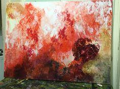 Burning man Acrylic on canvas David Toner