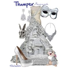 """Thumper Masquerade"" by cheshirehatter on Polyvore - if I am ever invited to a Masquerade Ball!!"
